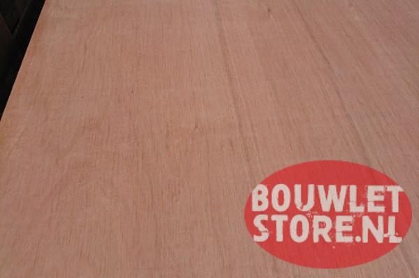 Hardhout multiplex interieur 2440x1220mm - Bouwletstore