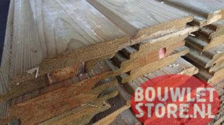 Vuren halfhouts rabat geimpregneerd 18x135mm werkend